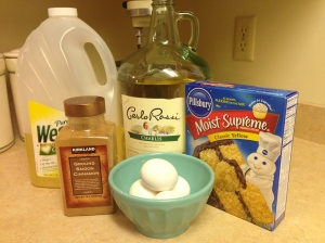 Ingredients for Wine Cake